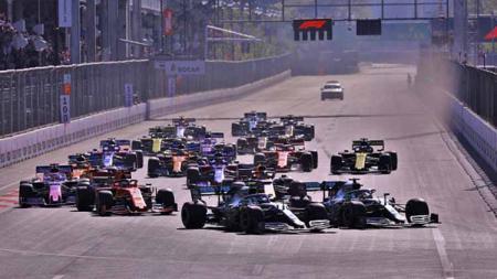 Grand Prix Azerbaijan, Babak 4 pada Kejuaraan Dunia F1 2019 di Sirkuit Kota Baku di Baku, Azerbaijan (28-04-2019). Foto: Resul Rehimov/Anadolu Agency/Getty Images - INDOSPORT