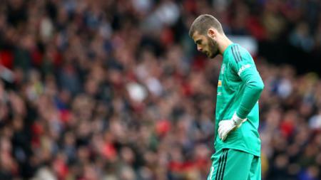 Performa buruknya di Manchester United disebut membuat David De Gea terancam bakal sering menjadi cadangan bersama Timnas Spanyol. - INDOSPORT
