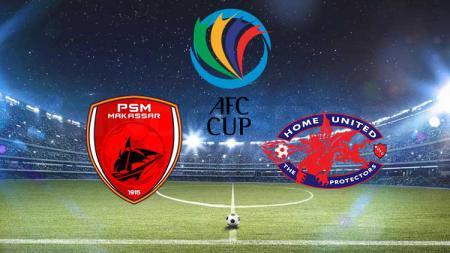 Ilustrasi logo PSM Makassar vs Home United di Piala AFC 2019. - INDOSPORT