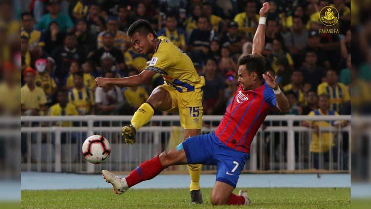 Pemain Pahang FA Saddil Ramdani. Copyright: Facebook/OfficialPahangFA