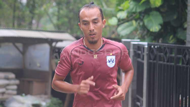 Mantan bek Timnas Indonesia U-23, M Fauzan Jamal. Copyright: Ronald Seger Prabowo/INDOSPORT