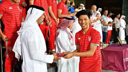 Pemain asal Aceh yang bermain di klub Liga Qatar, Qatar SC bernama Khuwailid Mustafa sedang menjadi sorotan karena tidak menggubris panggilan Timnas Indonesia. - INDOSPORT