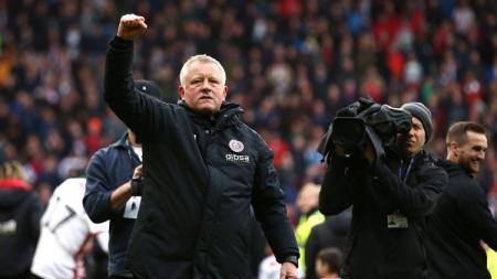 Manajer Sheffield United, Chris Wilder. Jan Kruger/Getty Images. - INDOSPORT