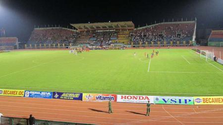 Go Dau Stadium, venue pertandingan Piala AFF U-18 2019 dan kandang Becamex Binh Duong. - INDOSPORT