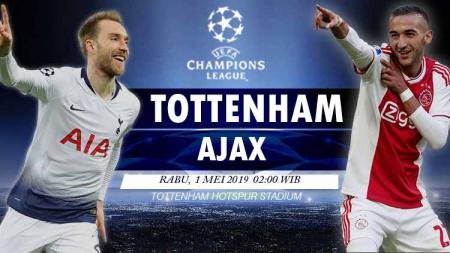 pertandingan Tottenham vs Ajax. - INDOSPORT