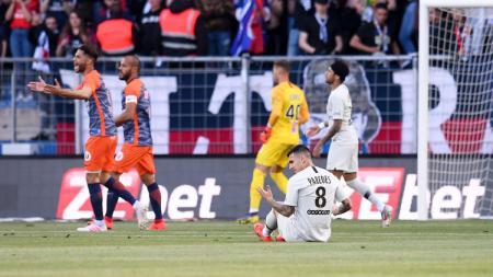 Pertandingan antara Montpellier vs PSG pada pekan ke-34 Ligue 1 Perancis, Rabu (01/05/19). - INDOSPORT