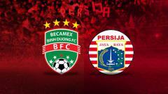 Indosport - Logo Becamex Binh Duong vs Persija Jakarta.
