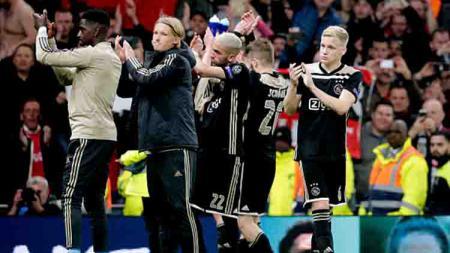 Tim Ajax Amsterdan berhasil menumbangkan Tottenham dengan skor 1-0 tanpa balas di leg pertama semifinal Liga Champions - INDOSPORT