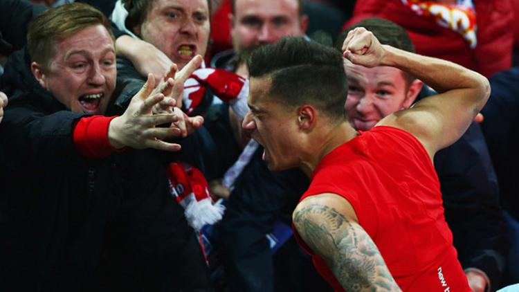 Philippe Coutinho merayakan golnya saat bersama Liverpool Copyright: Clive Brunskill / Staff / Getty Images