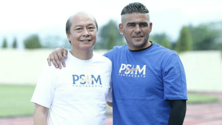 Cristian Gonzales resmi bergabung dengan PSIM Yogyakarta. Copyright: Twitter/PSIM Yogyakarta