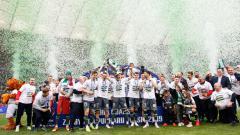 Indosport - Lechia Gdansk saat menjuarai Piala Polandia 2019.