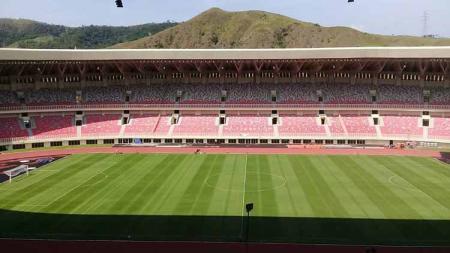 Pemandangan Stadion Papua Bangkit dari tribun penonton. - INDOSPORT