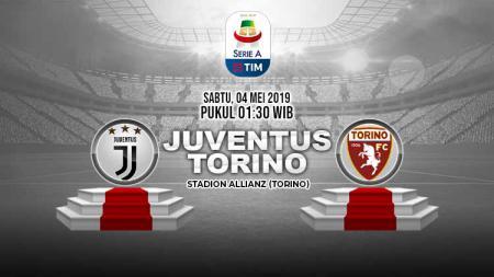 Pertandingan Juventus vs Torino. Grafis: Tim/Indosport.com - INDOSPORT