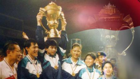 Tim Indonesia menjadi juara dalam ajang perdana Piala Sudirman setelah mengalahkan Korea Selatan pada babak final, yang diselenggarakan di Istora Senayan, Jakarta, 29 Mei 1989. - INDOSPORT