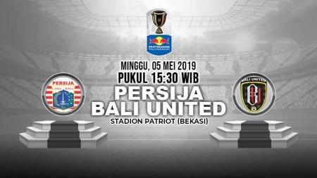 Pertandingan Persija Jakarta vs Bali United. Grafis: Yanto/Indosport.com - INDOSPORT