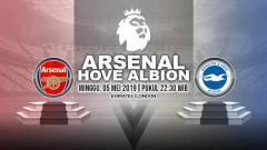 Indosport - Pertandingan Arsenal vs Brighton & Hove Albion. Grafis: Yanto/Indosport.com