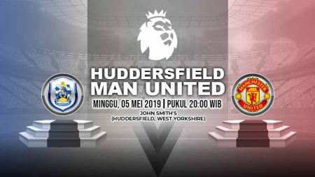 Pertandingan Huddersfield Town vs Manchester United. Grafis: Yanto/Indosport.com - INDOSPORT