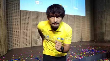 Ibnu Jamil, aktor pegiat olahraga lari. Foto: Shintya Anya Maharani/INDOSPORT - INDOSPORT
