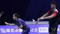 Indosport - Ganda campuran Praveen Jordan/Melati Daeva Oktavianti dalam aksinya di ajang New Zealand Open 2019