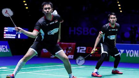 Mohammad Ahsan/Hendra Setiawan di ajang All England Open 2019 - INDOSPORT