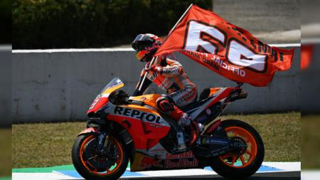 Marc Marquez menjuarai MotoGP Spanyol 2019 di Sirkuit Jerez, Minggu (05/05/19). - INDOSPORT