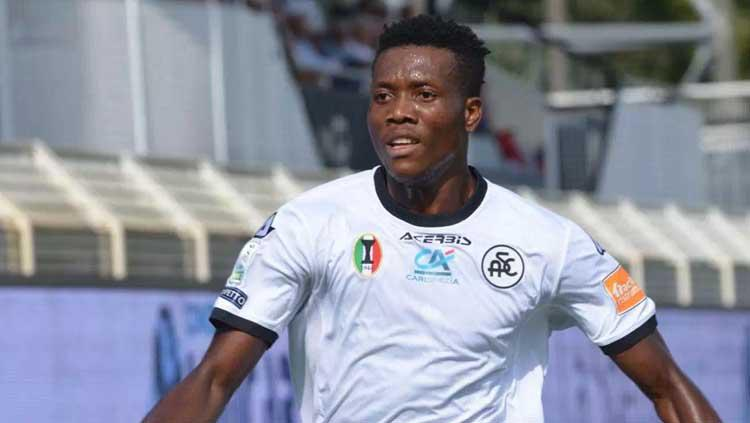 Striker Spezia Calcio, David Chidozie Okereke. Copyright: But Football Club