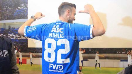 Meski baru debut, Rene Mihelic sudah punya cita-cita besar yang ingin ia wujudkan bersama Persib Bandung. Arif Rahman/INDOSPORT. - INDOSPORT