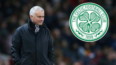 Jose Mourinho diminati agar bisa menjadi pelatih Glasgow Celtic. - INDOSPORT