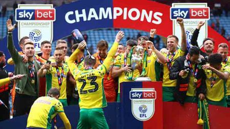 Norwich City juara Championship Inggris 2018-19. - INDOSPORT