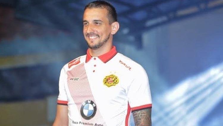 Flavio Beck Junior saat berseragam Kelantan FC. Copyright: flaviobeckjunior