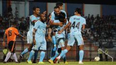 Indosport - Selebrasi para pemain Persela Lamongan.