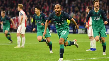 Lucas Moura dinobatkan sebagai pemain tercepat di Tottenham Hotspur versi keempat rekan setimnya. Dan Mullan/GettyImages. - INDOSPORT