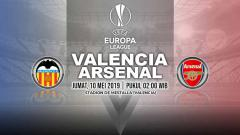 Indosport - Pertandingan Valencia vs Arsenal. Grafis: Yanto/INDOSPORT