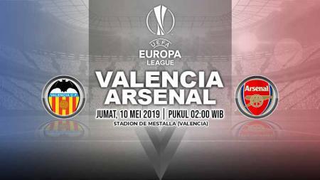 Pertandingan Valencia vs Arsenal. Grafis: Yanto/INDOSPORT - INDOSPORT