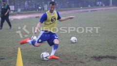 Indosport - Pemain anyar Persib Bandung, Rene Mihelic sudah ikut latihan.