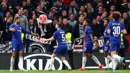 Chelsea baru saja memenangkan laga pramusim kontra RB Salszburg dan kedatangan tamu spesial pada laga tersebut. Cathrine Ivill/GettyImages. - INDOSPORT