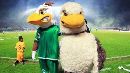 Maskot klub Liga 1 PSS Sleman, Falcao ternyata juga merasakan kerinduan yang sama dengan para pemain, pelatih hingga suporter tentang atmosir yang ada di stadion. - INDOSPORT