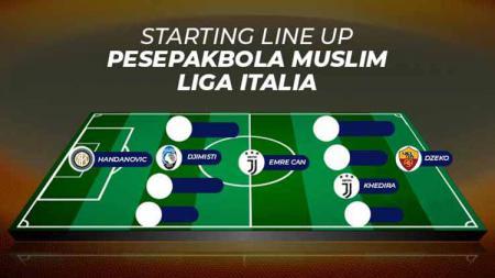 Starting line up pesepakbola muslim Liga Italia. Grafis: Tim/Indosport.com - INDOSPORT