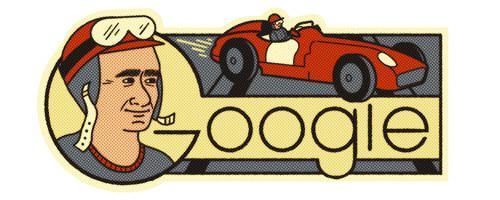 Juan Manuel Fangio Google Doodle Copyright: https://www.google.com/doodles