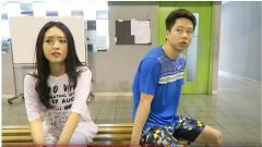 Indosport - Momen Natasha Wilona mengerjai Kevin Sanjaya