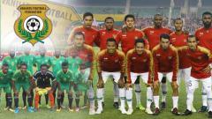 Indosport - Skuat Timnas Indonesia dan Timnas Vanuatu.