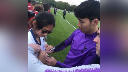 Zahra Muzdalifah dan Son Heung-min - INDOSPORT