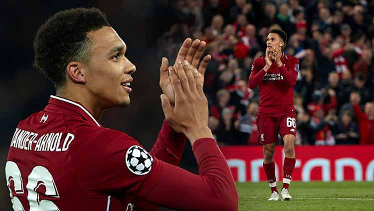 Trent Alexander-Arnold pada laga melawan Barcelona di Anfield 07/05/19. Quality Sport Images/Getty Images Copyright: Eli Suhaeli/INDOSPORT/Quality Sport Images/Getty Images