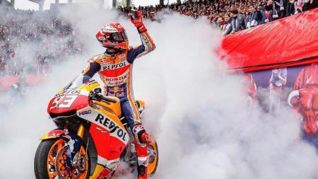 Marc Marquez masih kokoh menjadi pemuncak klasemen sementara MotoGP Inggris 2019. - INDOSPORT