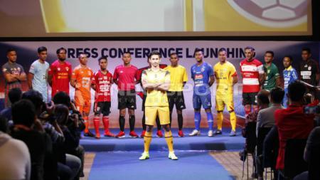 Gavin Kwan Adsit mewakili Barito Putera di launching Liga 1 2019. Foto: Herry Ibrahim/INDOSPORT - INDOSPORT