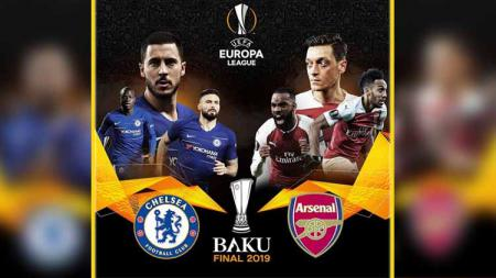Final Liga Europa 2018-19 antara Chelsea vs Arsenal. - INDOSPORT