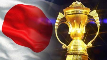 Bendera Jepang dan Piala Sudirman. - INDOSPORT