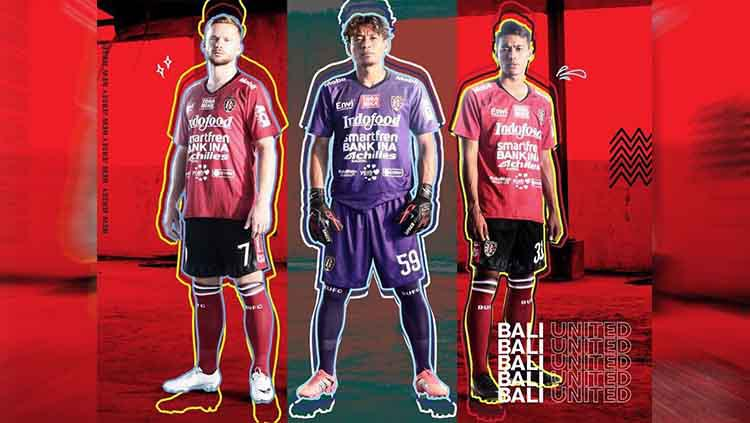 Jersey Bali United untuk musim 2019. Copyright: Instagram.com/baliunitedfc