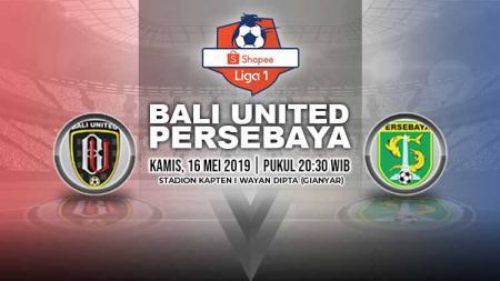 Pertandingan Bali United vs Persebaya. Grafis: Yanto/Indosport.com - INDOSPORT