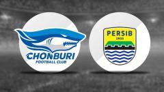Indosport - Logo Chonburi fc dan Persib Bandung.